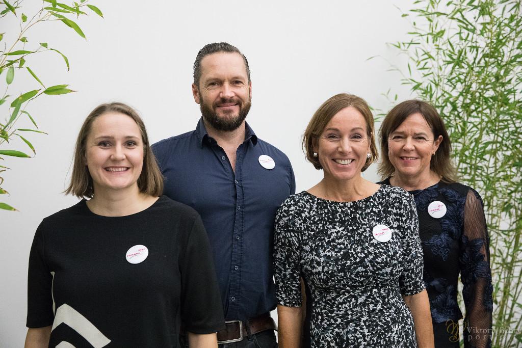 Das Team von A little Help from my Friends e.V.: Ulrike Wiedemann, Erik von Hoerschelmann, Dr. Stefanie Holm, Maria Hasche (v.l.n.r.)